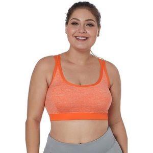 Orange Double Strap Women's Sports Bra
